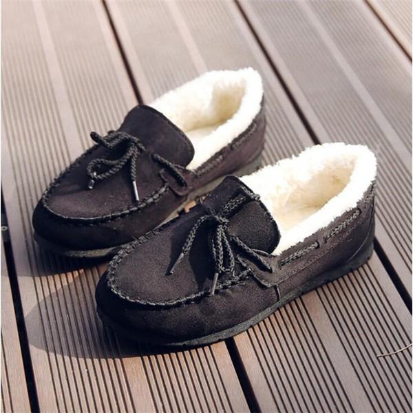モカシン ムートン シューズ レディース 秋 冬 パンプス 裏ボア もこもこ フラットシューズ ぺたんこ 靴 ファーシューズ ムートンローファー 暖か