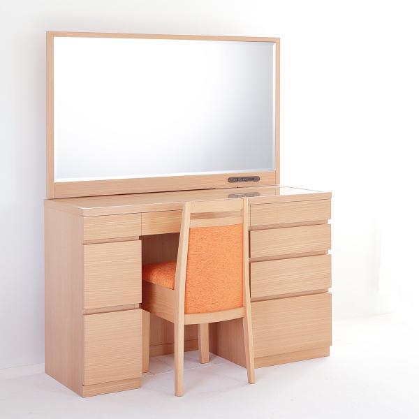 レント ファクトリーアウトレット ナチュラル 2020春夏新作 一面鏡120cmワイドミラーホテルドレッサー椅子付き