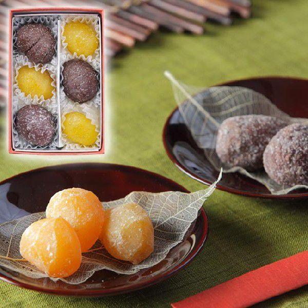 甘納豆の雪華堂/栗甘納糖二色寄せ 6個入/栗の特製甘納糖 KO12