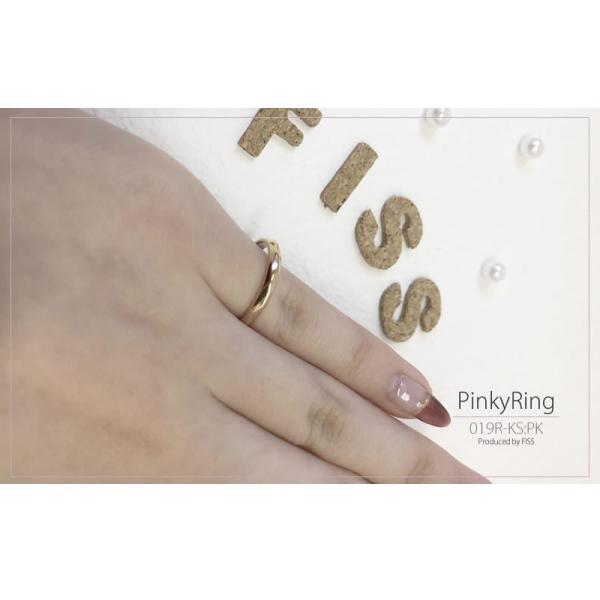 ピンキーリング 1号 2号 3号 レディース  セミオーダーメイド 刻印 誕生石 シンプル ピンクゴールド/019R-KS-PK単品(hub)|select-alei|11