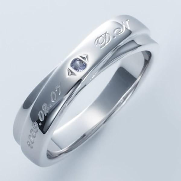 ピンキーリング 1号 2号 3号 レディース  セミオーダーメイド 刻印 誕生石 シンプル /004R-KS単品(SU)|select-alei|03