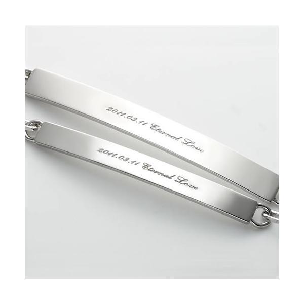 ペアブレスレット シルバー セミオーダーメイド 刻印 シンプル/002B-K(OP)|select-alei|03