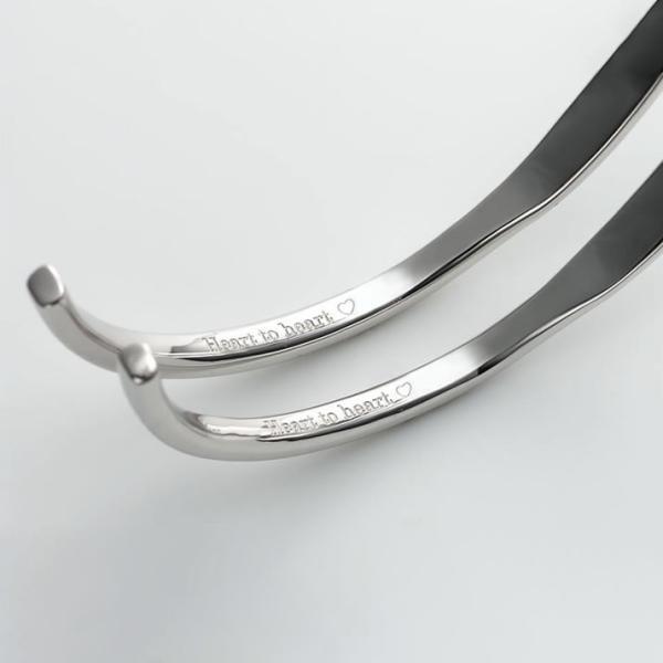 ペアバングル カップル メンズ レディース シルバー 人気 セミオーダーメイド 刻印 シンプル ブレスレット/001BG-K(SU)|select-alei|03