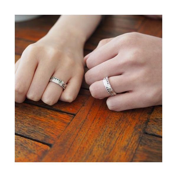 ハワイアンジュエリー ペアリング 指輪 シルバー925 AquaBelle LOVERS CLR-X-BCZ ブラックキュービック レディース スクロール 波 彼氏 彼女 誕生日 結婚記念日|select-alei|03