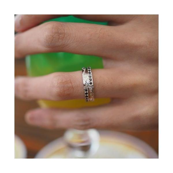 ハワイアンジュエリー ペアリング 指輪 シルバー925 AquaBelle LOVERS CLR-X-BCZ ブラックキュービック レディース スクロール 波 彼氏 彼女 誕生日 結婚記念日|select-alei|05