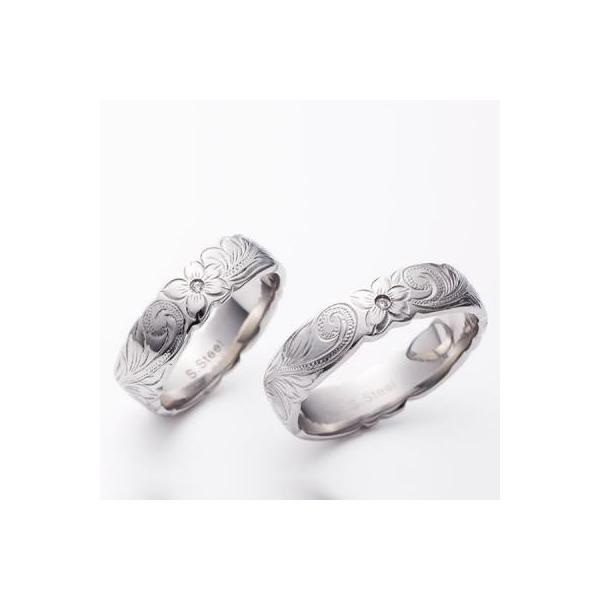 ハワイアンジュエリー ペアリング ステンレス milmil GRSS515 2本セット カップル ペアルック お揃い 結婚指輪|select-alei|02