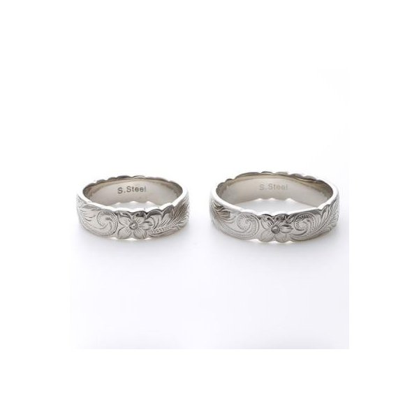 ハワイアンジュエリー ペアリング ステンレス milmil GRSS515 2本セット カップル ペアルック お揃い 結婚指輪|select-alei|03