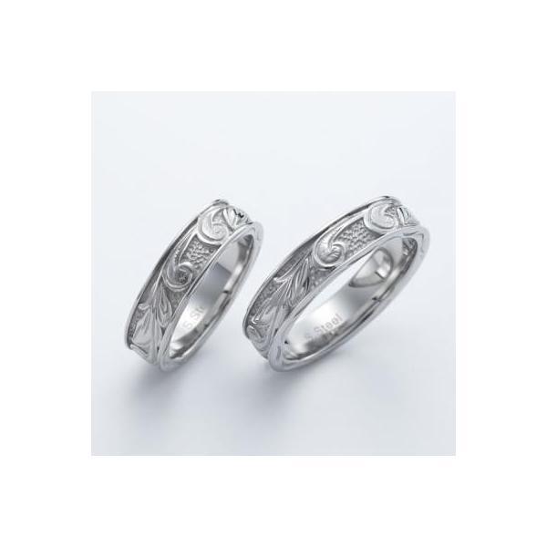 ハワイアンジュエリー ペアリング ステンレス 2本セット カップル ペアルック お揃い 結婚指輪 milmil GRSS550|select-alei|02