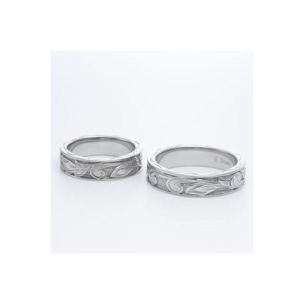 ハワイアンジュエリー ペアリング ステンレス 2本セット カップル ペアルック お揃い 結婚指輪 milmil GRSS550|select-alei|03