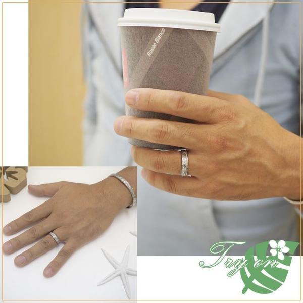 ハワイアンジュエリー ペアリング ステンレス 2本セット カップル ペアルック お揃い 結婚指輪 milmil GRSS550|select-alei|04