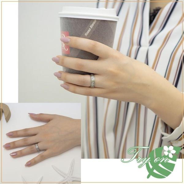 ハワイアンジュエリー ペアリング ステンレス 2本セット カップル ペアルック お揃い 結婚指輪 milmil GRSS550|select-alei|05