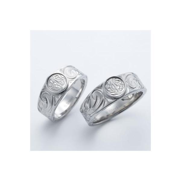 ハワイアンジュエリー ペアリング ステンレス 2本セット カップル ペアルック お揃い 結婚指輪 milmil GRSS551|select-alei|02