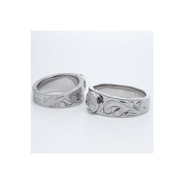 ハワイアンジュエリー ペアリング ステンレス 2本セット カップル ペアルック お揃い 結婚指輪 milmil GRSS551|select-alei|03