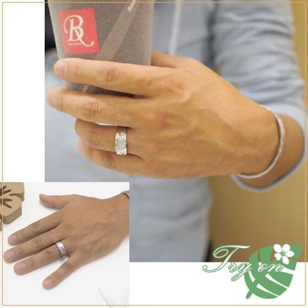 ハワイアンジュエリー ペアリング ステンレス 2本セット カップル ペアルック お揃い 結婚指輪 milmil GRSS551|select-alei|04