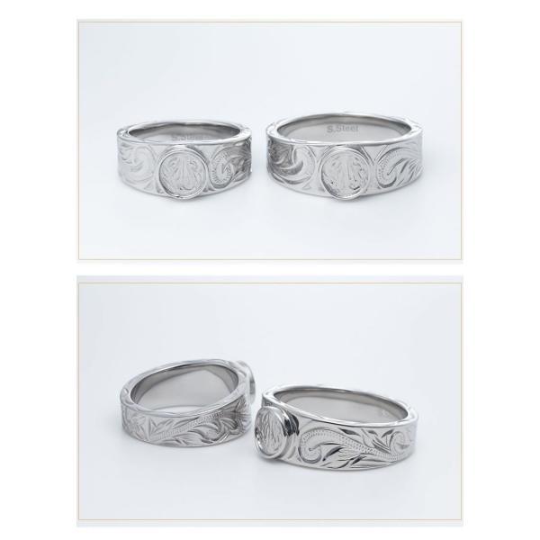 ハワイアンジュエリー ペアリング ステンレス 2本セット カップル ペアルック お揃い 結婚指輪 milmil GRSS551|select-alei|09