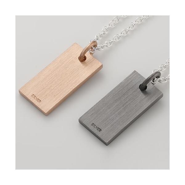 ペアネックレス シルバー セミオーダーメイド 刻印 誕生石 プレート/NECKLACE01-KS-BKPK(SU)|select-alei|03