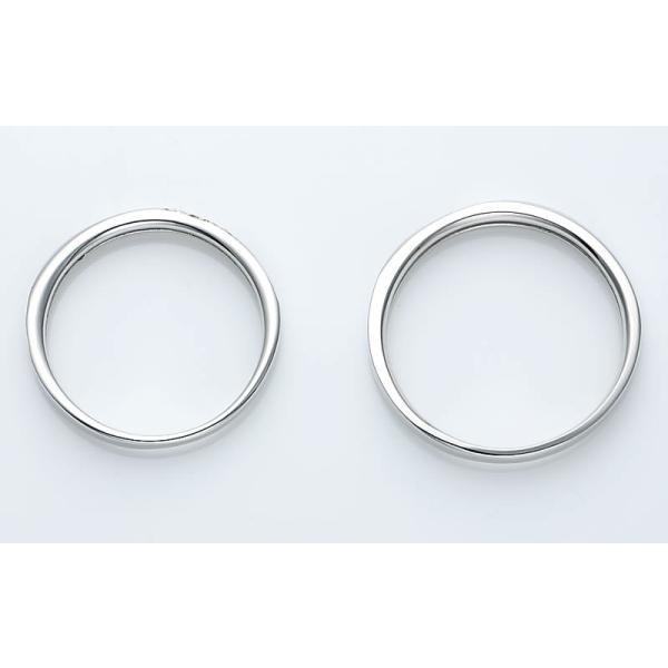 結婚指輪 マリッジリング プラチナ ペアリング 2本セット 無料刻印 Premium memory (pre-11-22-4071)|select-alei|08