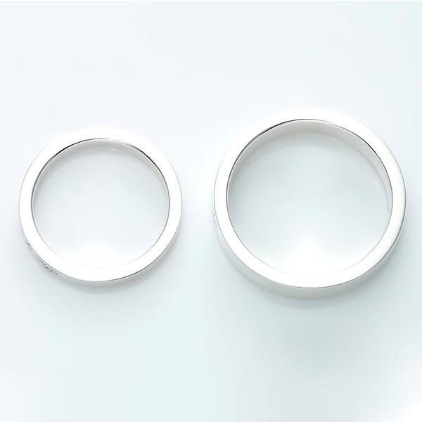 セミオーダーメイド ペアリング シルバー 刻印・送料無料 シンプル 誕生石/007R-KS(SU)|select-alei|03