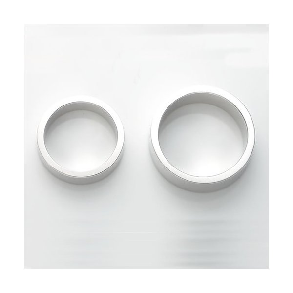 ペアリング 刻印 セット 人気 カップル シルバー セミオーダーメイド シンプル 誕生石/001R-KS(hub)|select-alei|03