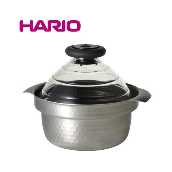 ハリオ ご飯鍋 フタがガラスのIH対応ご飯窯雪平 GIS-200|select-coco10