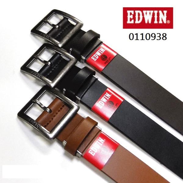 EDWIN35mm幅レザーベルトギャリソンベルトメンズレディース牛革一枚革0110938
