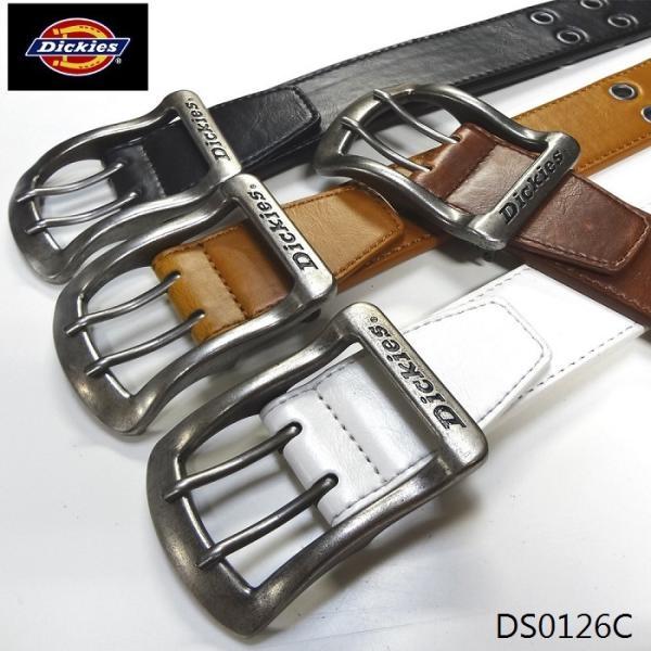Dickies40mm幅PUレザーベルトメンズレディースベルト合成皮革ダブルピンベルトDS0126C