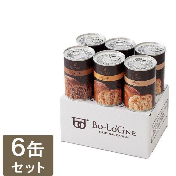 おいしい非常食 缶deボローニャ 6缶箱入セット プレーン メープル チョコ 防災グッズ 保存食