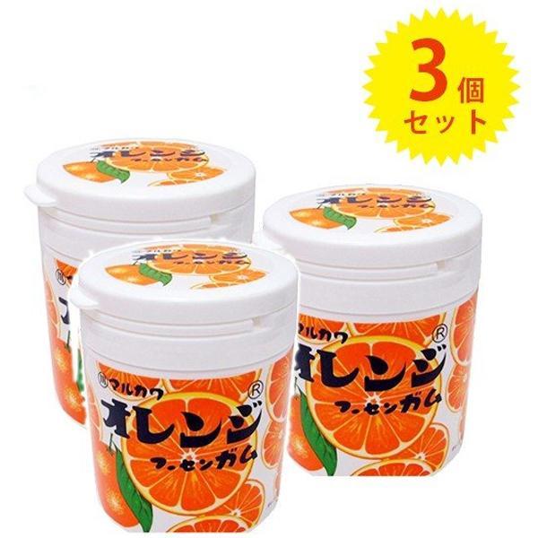 丸川製菓 オレンジマーブルガムボトル 130g×3個 お菓子 駄菓子 フーセンガム 風船ガム