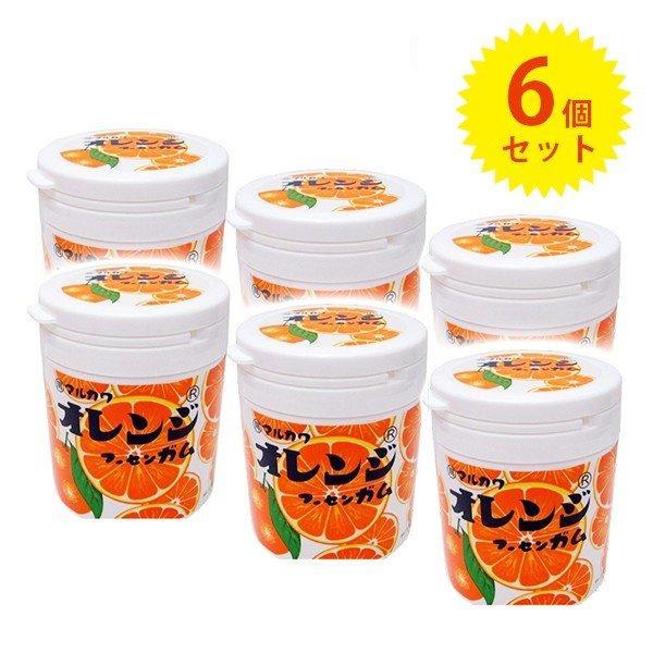 丸川製菓 オレンジマーブルガムボトル 130g×6個 お菓子 駄菓子 フーセンガム 風船ガム