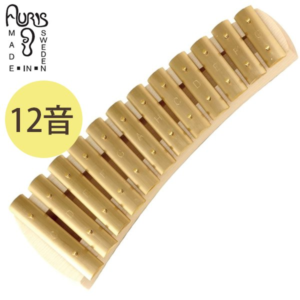 子ども用 打楽器 おもちゃ アウリス社 グロッケン ダイヤトニック12音 鉄琴 真鍮 音楽 知育玩具 音が出る ギフト キッズトイ 子供 AURIS