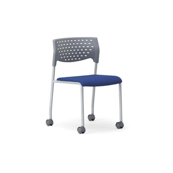 4脚セット スタッキングチェア粉体塗装タイプ 素材・カラー選べます オフィス家具 会議 チェア/椅子グレーシェル仕様/キャスター付き  送料無料|select-office