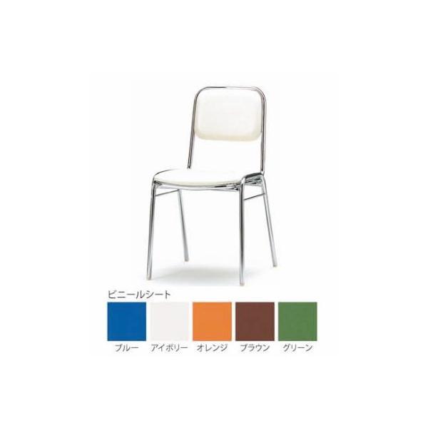 4脚セット スタッキングチェア(FSC−300) ビニールシートタイプ・カラー選べます オフィス家具 会議 チェア/椅子  送料無料|select-office