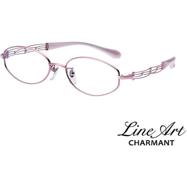 ラインアート シャルマン Line Art メガネ フレーム XL1017 カノンコレクション カラー PK ピンク サイズ 53 伊達 眼鏡 形状記憶 女性用 国内正規品
