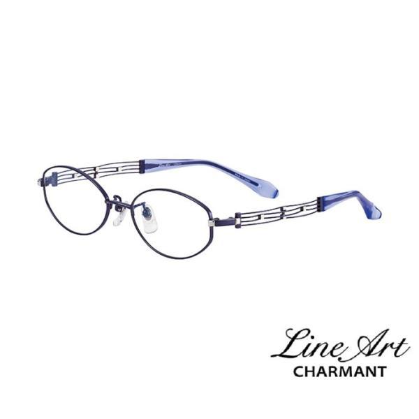ラインアート シャルマン Line Art メガネ フレーム XL1048 カノンコレクション カラー BL ブルー サイズ 48 伊達 眼鏡 形状記憶 女性用 国内正規品