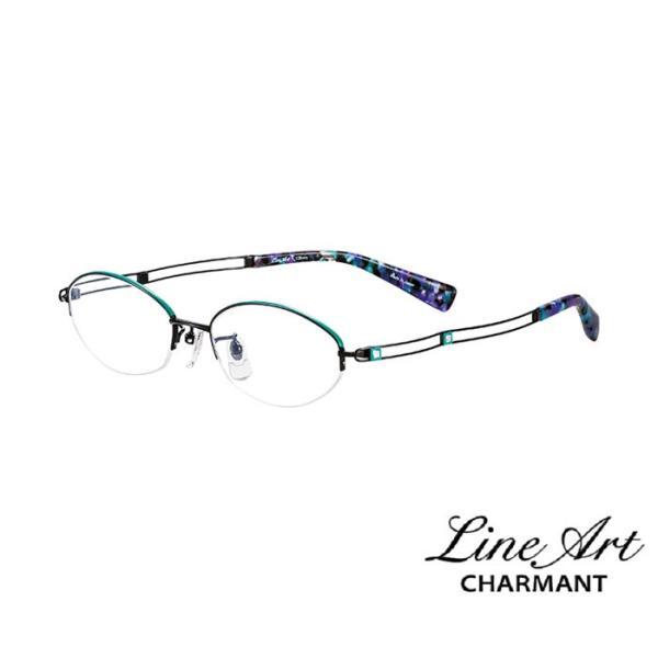ラインアート シャルマン Line Art メガネ フレーム XL1097 デュオコレクション カラー BK ブラック サイズ 51 伊達 眼鏡 形状記憶 女性用 国内正規品