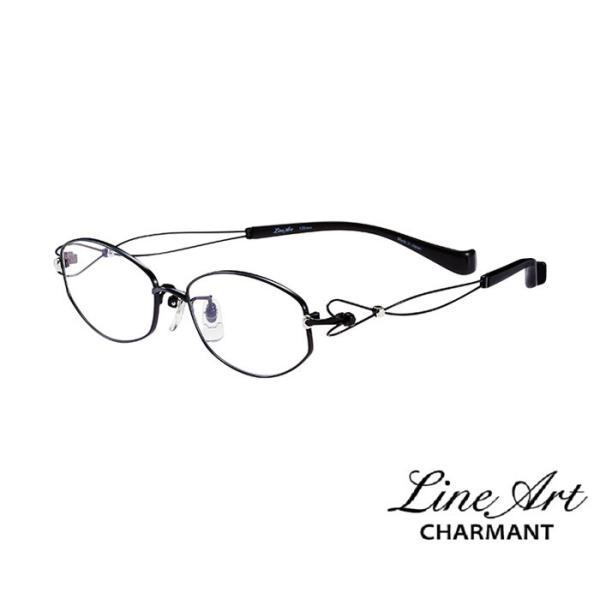 ラインアート シャルマン Line Art メガネ フレーム ドルチェコレクション XL1417 カラー BK ブラック サイズ 51 伊達 眼鏡 形状記憶 女性用 国内正規品