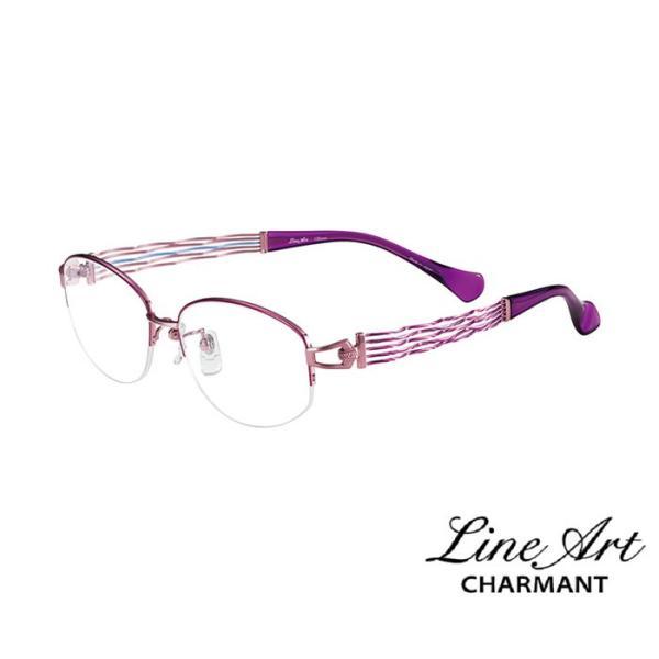 ラインアート シャルマン Line Art メガネ フレーム コーラスコレクション XL1436 カラー PU パープル サイズ 53 伊達 眼鏡 形状記憶 女性用 国内正規品