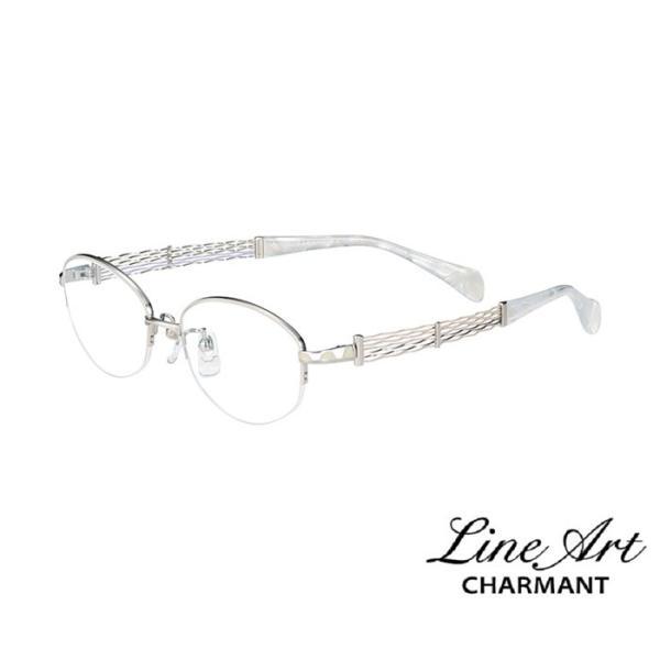 ラインアート シャルマン Line Art メガネ フレーム XL1498 オペラコレクション カラー WH ホワイト サイズ 51 伊達 眼鏡 形状記憶 女性用 国内正規品