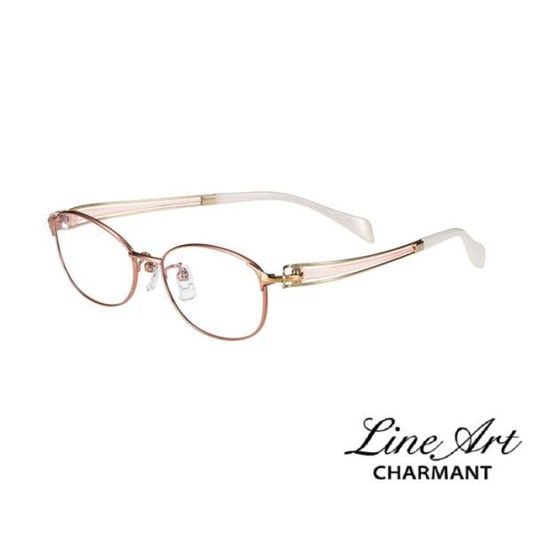 ラインアート シャルマン Line Art メガネ フレーム ヴィヴァーチェコレクション XL1600 カラー RG ローズゴールド サイズ 51 伊達 眼鏡 形状記憶 女性用