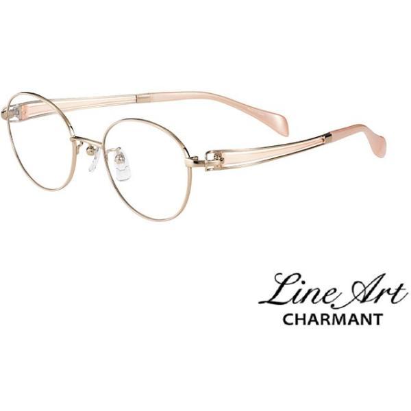 ラインアート シャルマン Line Art メガネ フレーム XL1602 ヴィヴァーチェコレクション  カラー PE ピーチ サイズ 48 伊達 眼鏡 形状記憶 女性用 国内正規品