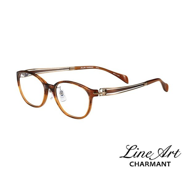 ラインアート シャルマン Line Art メガネ フレーム ヴィヴァーチェコレクション XL1604 カラー BR ブラウン サイズ 51 伊達 眼鏡 形状記憶 女性用 国内正規品
