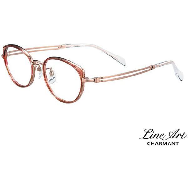 ラインアート シャルマン Line Art メガネ フレーム XL1632 Brio ブリオコレクション RE レッド サイズ 49 伊達 眼鏡 形状記憶 レディース CMモデル国内正規品