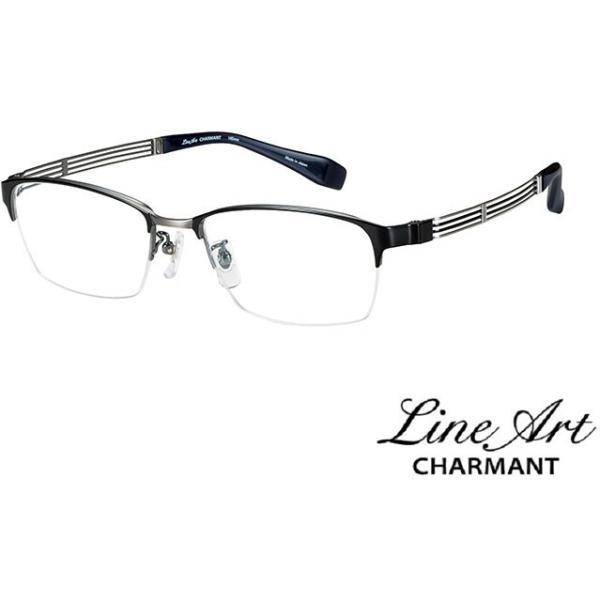 ラインアート シャルマン Line Art メガネ フレーム XL1804 レガートコレクション カラー BK ブラック サイズ 53 伊達 眼鏡 形状記憶 紳士用 国内正規品