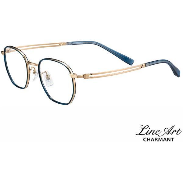 ラインアート シャルマン Line Art メガネ フレーム XL1806 Brio ブリオコレクション BL ブルー サイズ 49 伊達 眼鏡 形状記憶 メンズ CMモデル 国内正規品