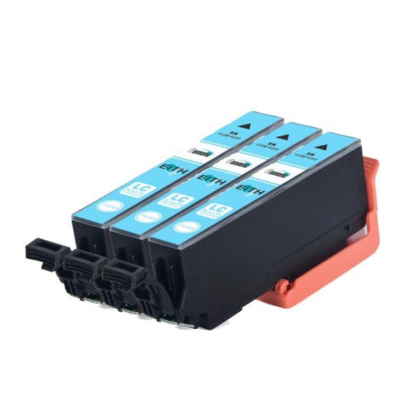 ITH-LC ライトシアン プリンターインク 3本セット エプソン EPSON インク イチョウ 互換インクカートリッジ ITH-LC 薄青|select-shop-barong|02