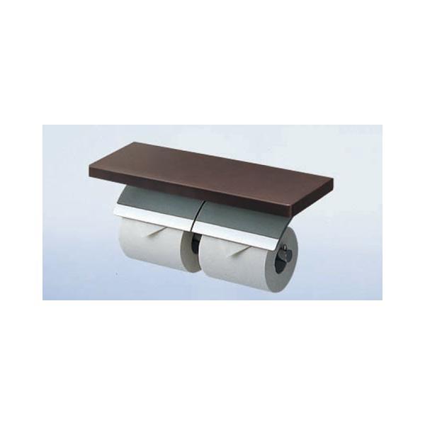 TOTO 棚付二連紙巻器(天然木)YH63KSS 木製 トイレ 紙巻器 トイレットペーパーホルダー 2連 シンプル インテリア トイレ用品 ワンタッチ ダブル インテリア