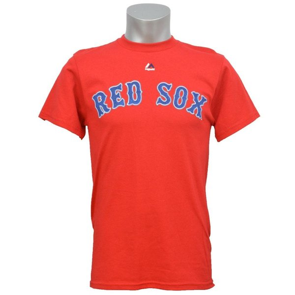 MLB レッドソックス ダスティン・ペドロイア Tシャツ レッド マジェスティック Player Tシャツ|selection-j|02
