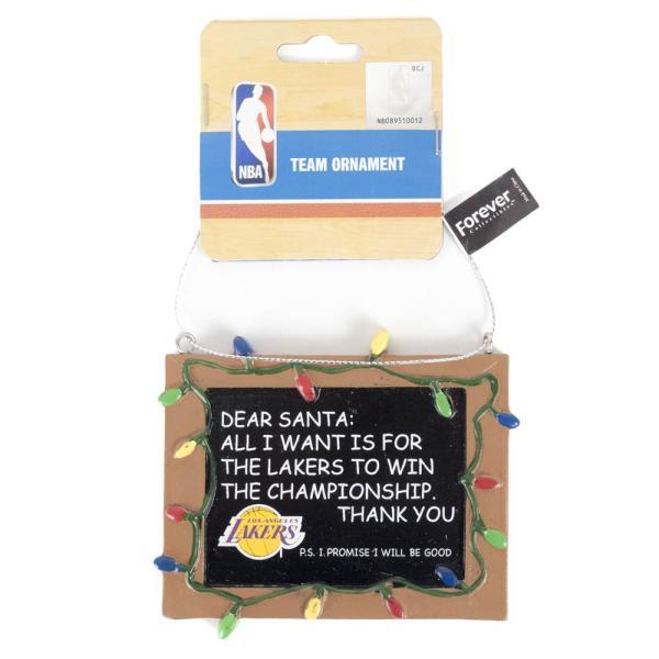 NBA レイカーズ レジン チョークボード サイン クリスマス ツリー オーナメント|selection-j