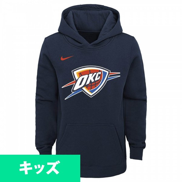 NBA オクラホマシティ・サンダー パーカー/フーディー ユース エッセンシャル ロゴ ナイキ Nike ネイビー