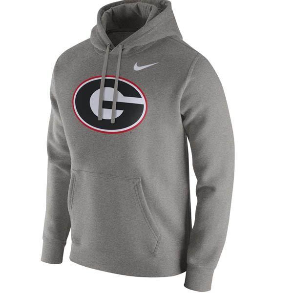 NCAA ジョージア大学 ブルドックス パーカー/フーディー クラブ プライマリーロゴ ナイキ/Nike グレー